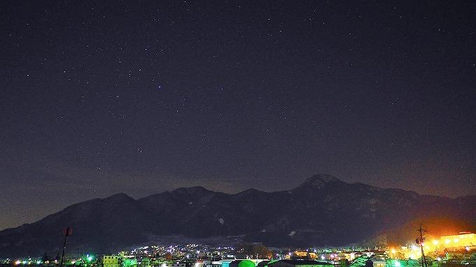 千曲市更級冠着山の星空冬