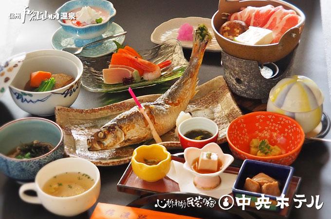 戸倉上山田温泉中央ホテル料理