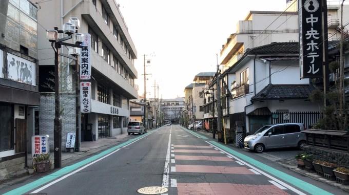 戸倉上山田温泉本通り中央ホテル朝