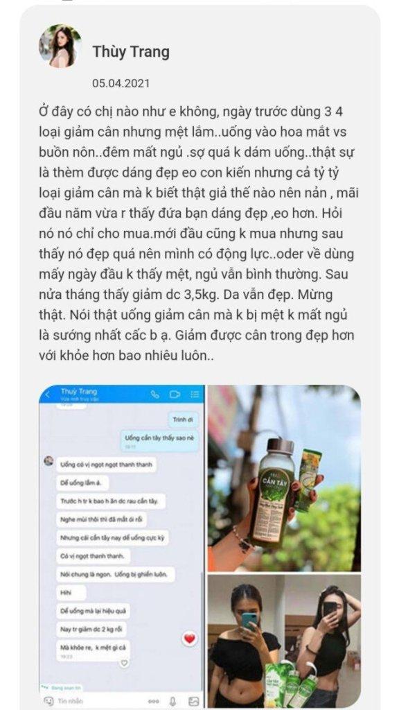 Khách hàng nói về Bột cần tây mật ong Motree