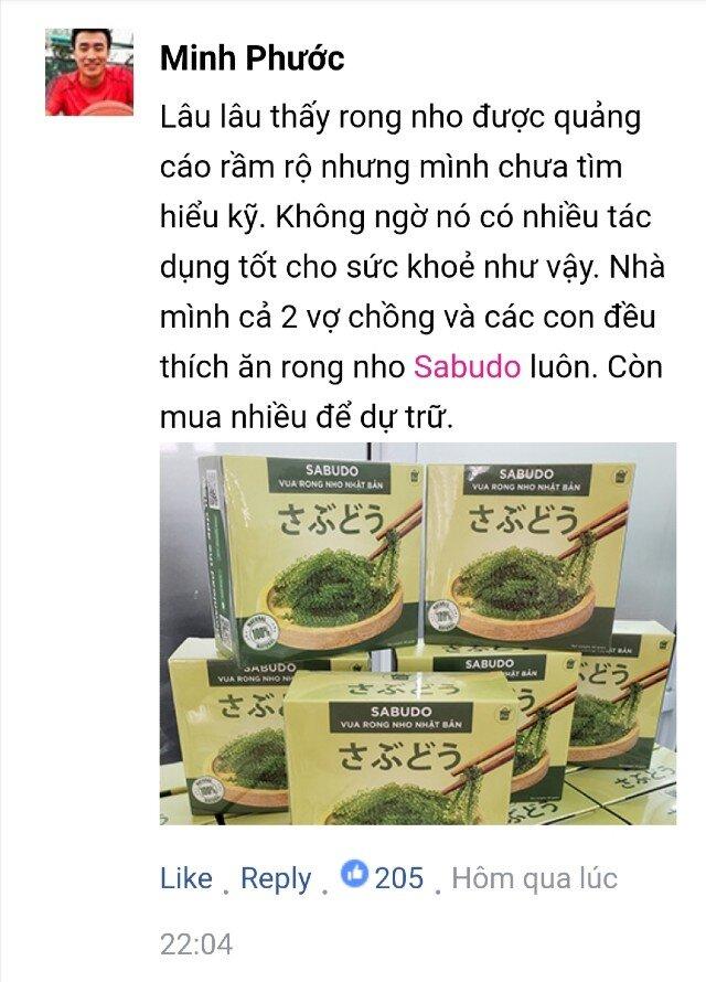 Bình luận của khách hàng về Rong nho Sabudo