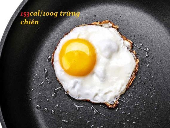 Lượng calo trong thức ăn từ trứng