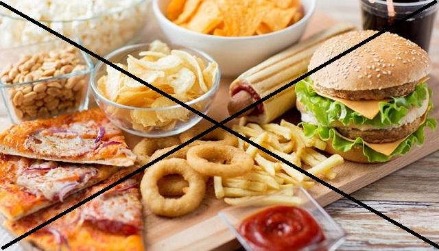 Chất béo trong thức ăn nhanh không phù hợp với chế độ ăn eat clean