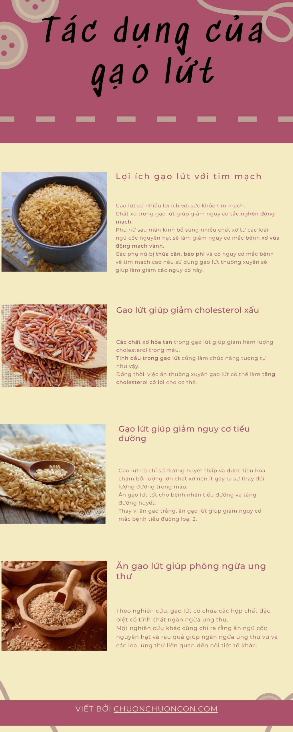 Gạo lứt giảm cân