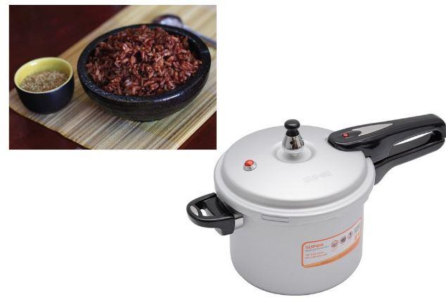 Cách nấu cơm gạo lứt giảm cân bằng nồi áp suất