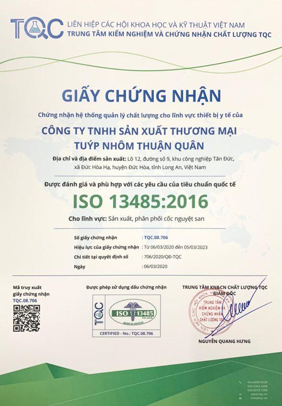 Chứng nhận chất lượng ISO