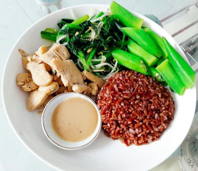 thực đơn giảm cân với gạo lứt