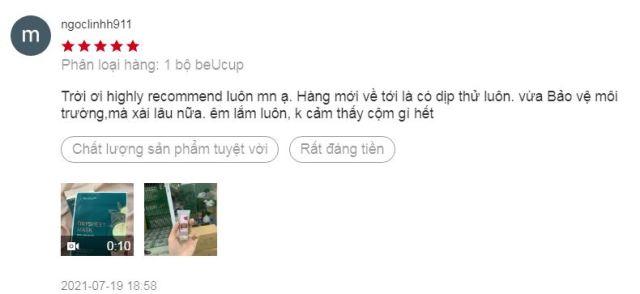 đánh giá cốc nguyệt san Beucup