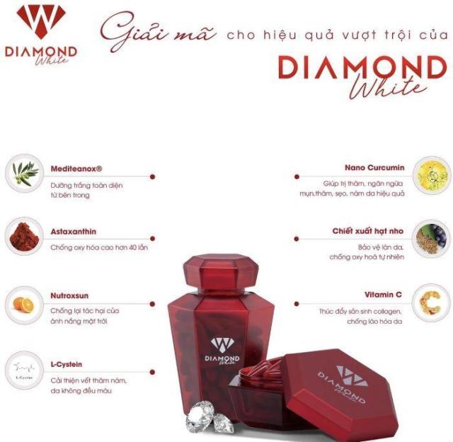 Thành phần trong viên uống trắng da Diamond White