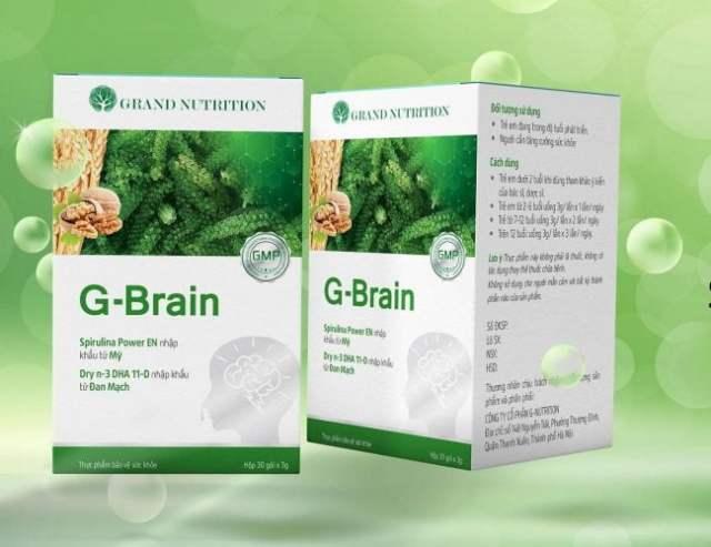 Cách sử dụng Bột cốm trí não G Brain