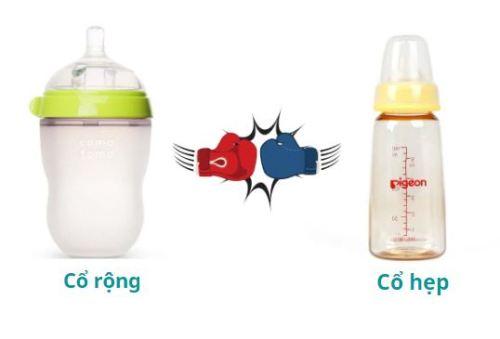 Nên mua bình sữa cổ rộng hay cổ hẹp