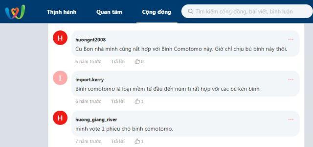 Review bình sữa Comotomo Webtretho