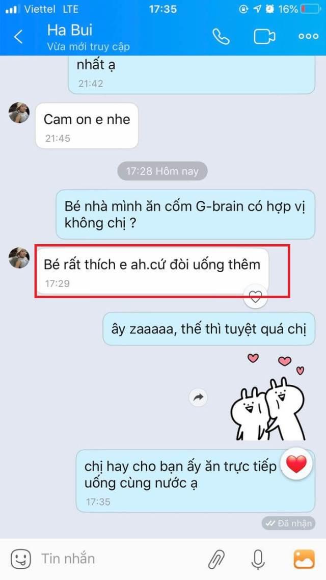 Cốm trí não G Brain có tốt không