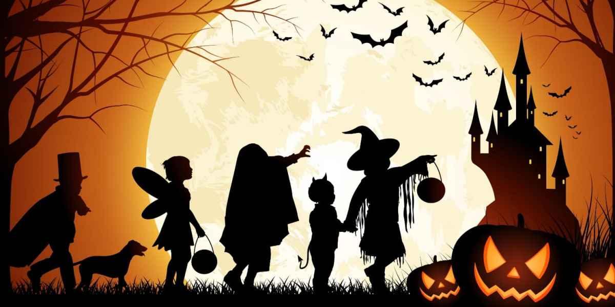 Materiales para manualidades y bellas artes en la elaboración de adornos para Halloween