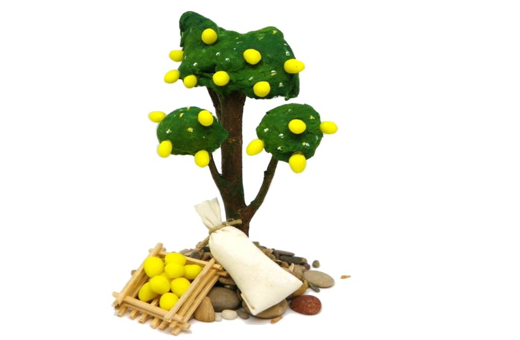 miniaturas decorativas para el belen hechas con plastilina y otros materiales