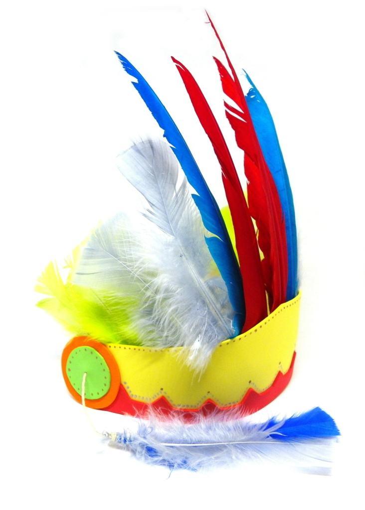 tocado de plumas de los nativos de norteamerica