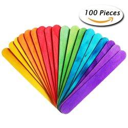 palos planos de colores para manualidades