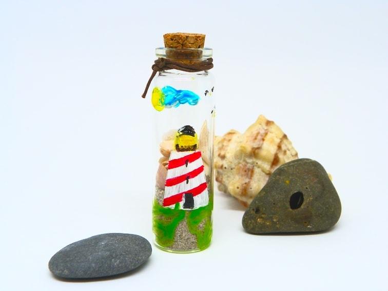 ¿Cómo hacer un souvenir de las vacaciones de verano? Mini tarro de cristal decorativo