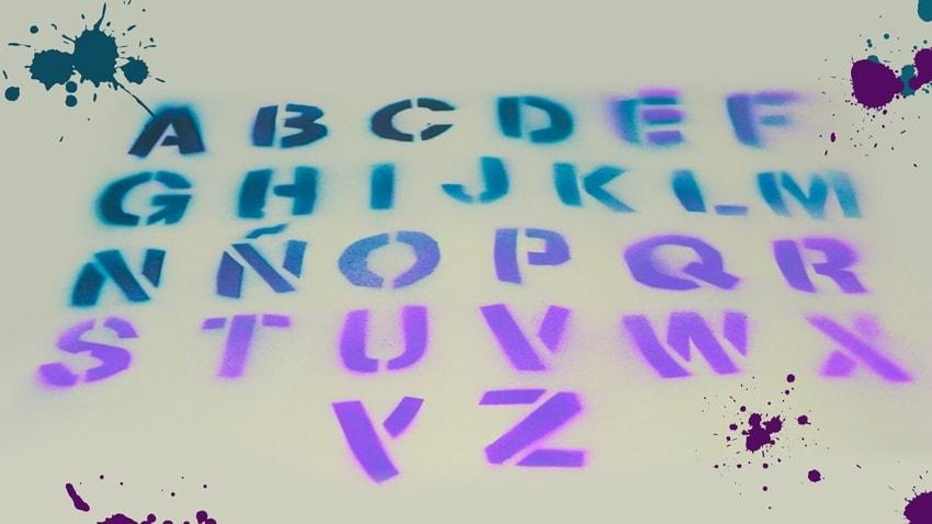 Letras del abecedario de Stranger Things: Plantilla Stencil decorativa