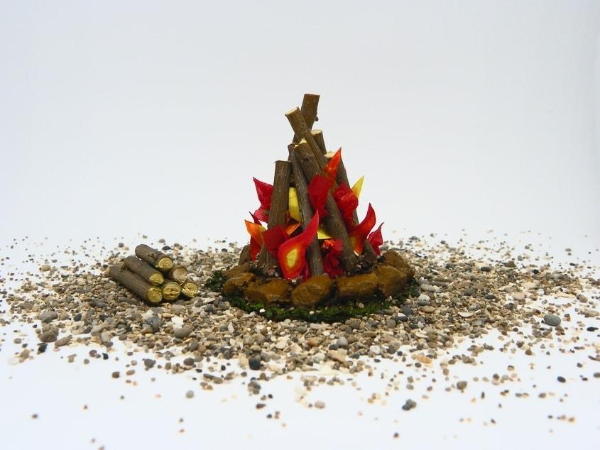 c mo hacer una hoguera en miniatura para decorar el bel n