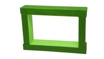 marco de madera para fotos hecho con madera reciclada