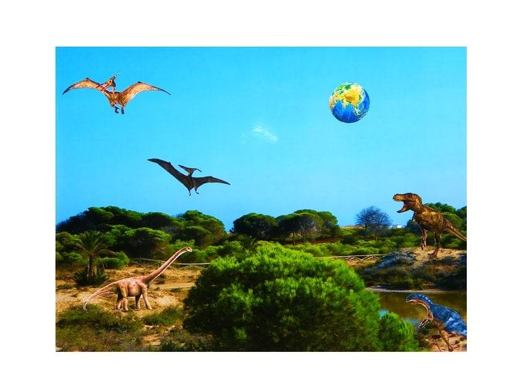 collage prehistorico dinosaurios