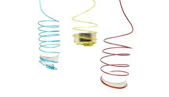 porta velas hecho con alambre de colores