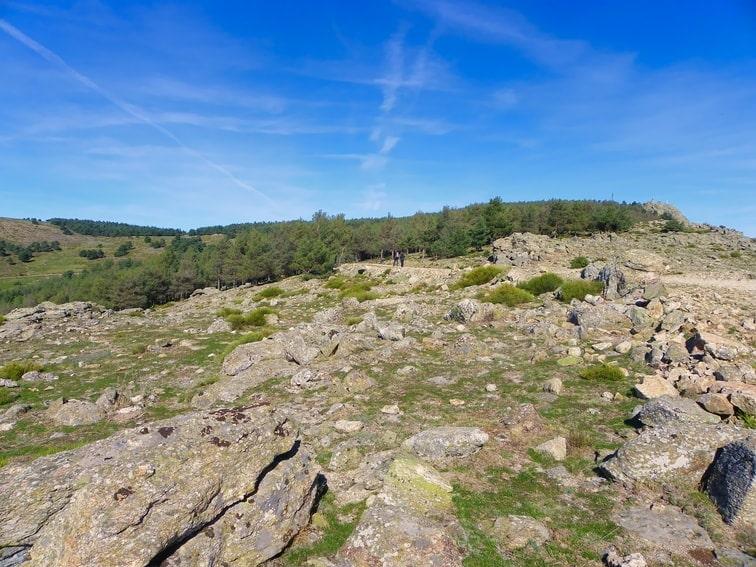 vista de la cima del monte abantos