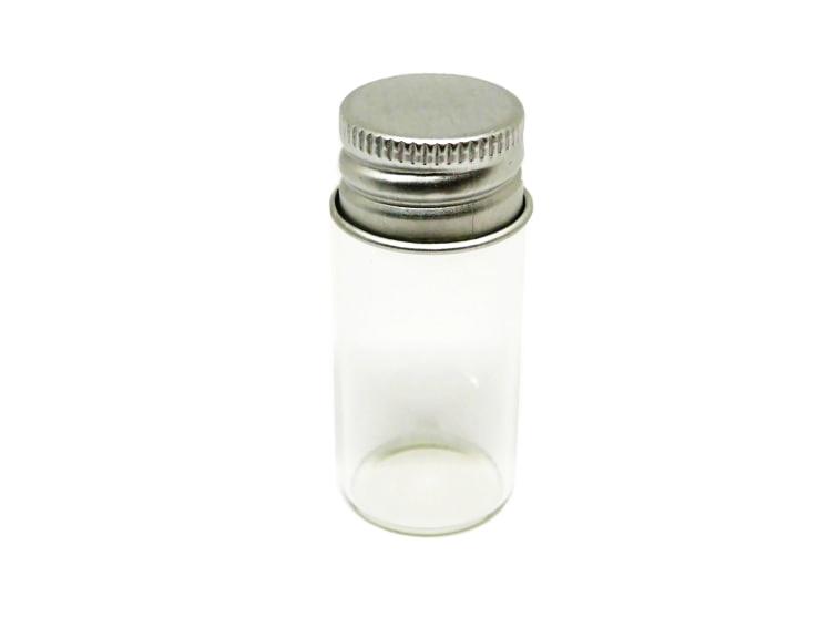 frasco pequeño con tapon de rosca de aluminio
