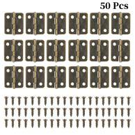 50 bisagras pequeñas color bronce con 200 tornillos