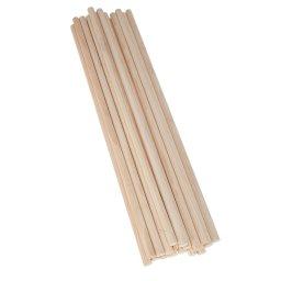 50 palos de madera de 50 cm x 10 mm