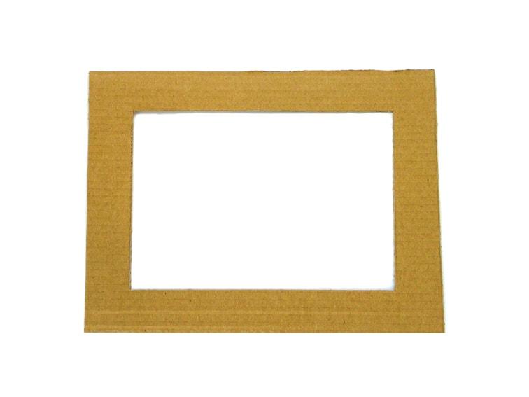 marco de carton para hacer portafotos con cuerda de yute