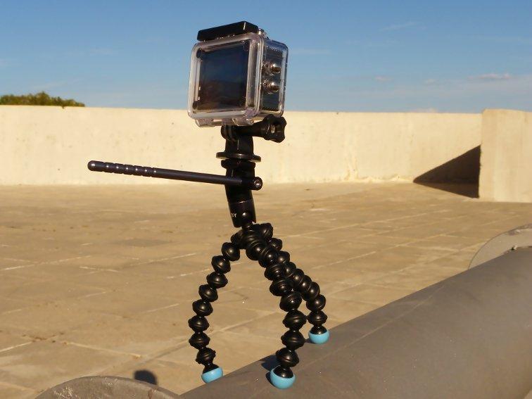 tripode joby griptight gorillapod video magnetico con camara deportiva