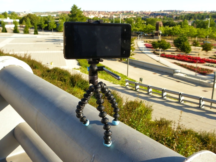 tripode joby griptight gorillapod video magnetico con telefono movil