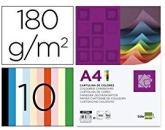 Cartulina A4 180G M2 10 Colores Surtidos Paquete De 100