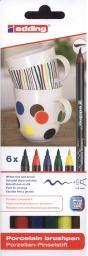edding 4200-6-S-000 Estuche con 6 rotuladores para porcelana multicolor