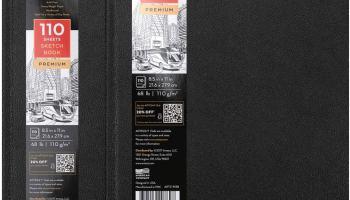 2 cuadernos para dibujo y escritura de arteza con tapa dura y 110 hojas con un gramaje de 110 gsm