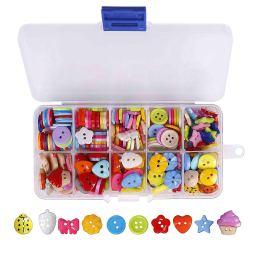 botones de resina con caja de plastico 235 unidades