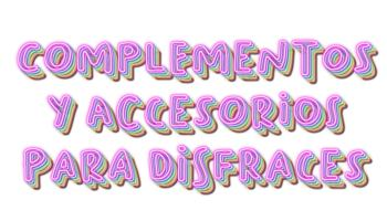 complementos y accesorios para disfraces