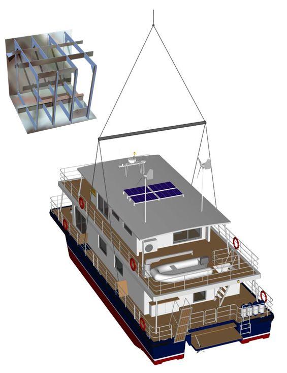 rings for lifting modus maris houseboat design houseboats