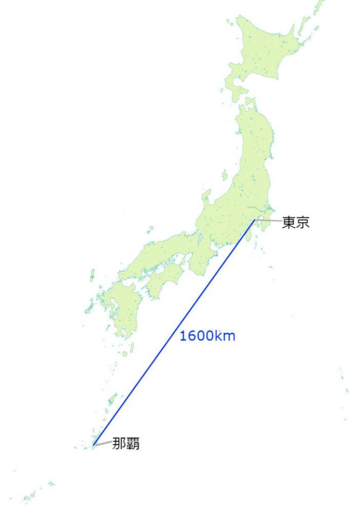 東京那覇の距離