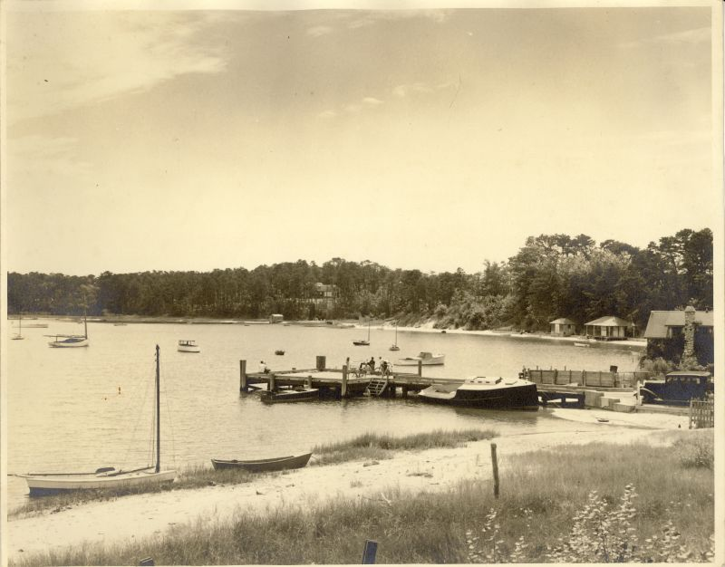 Cotuit's town dock in the 1920s or 1930s