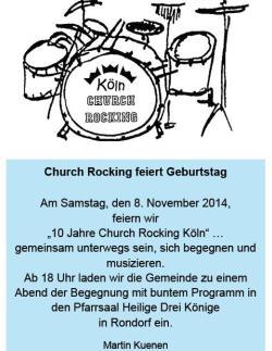Church Rocking feiert Geburtstag
