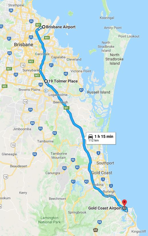 30 Minutes from Brisbane Airport, 50 Minutes from Gold Coast Airport