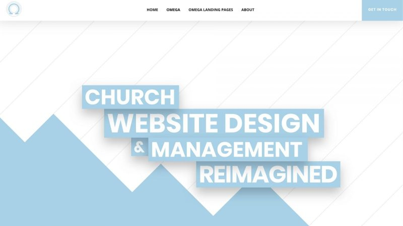 screenshot of Omega homepage website solution