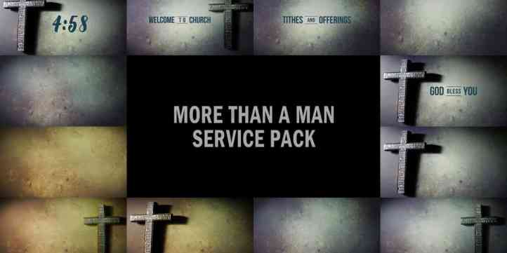 More Than A Man Service Pack Preview