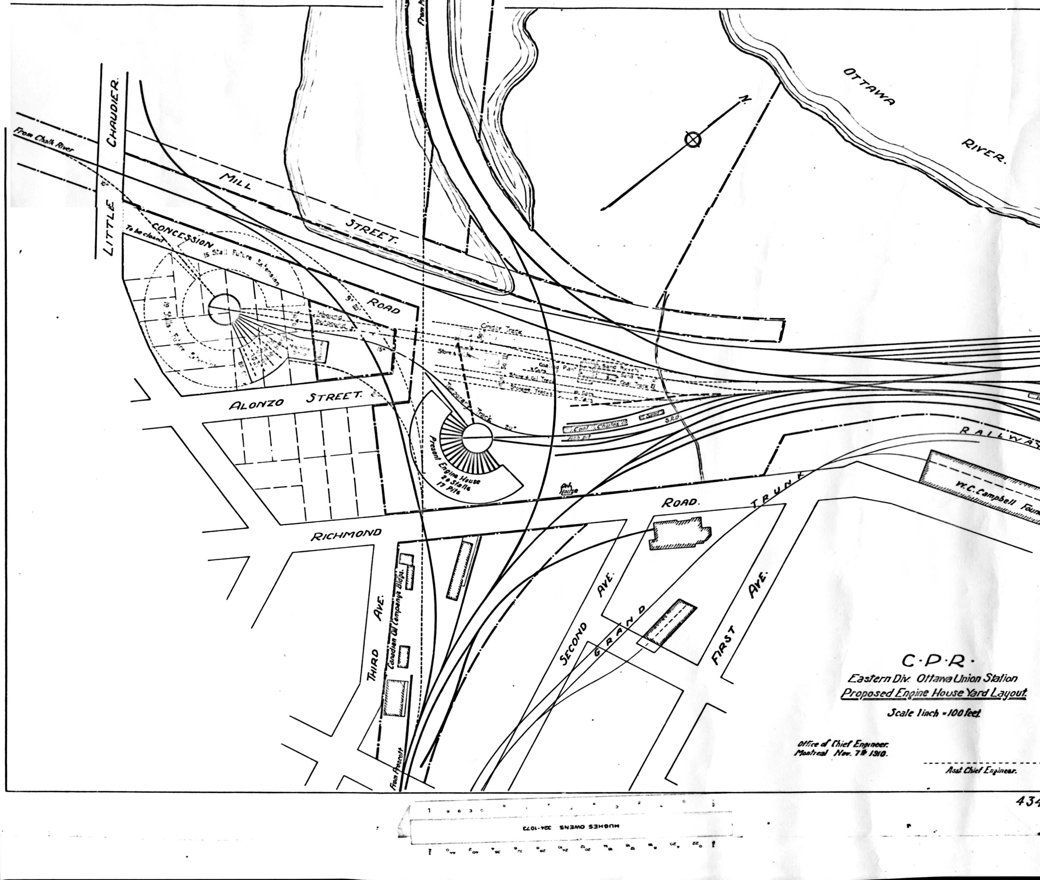 Ottawa Railway History Circle Plans For Railways In The