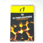 Happy Shopper 15 Firelighters With Hotspots