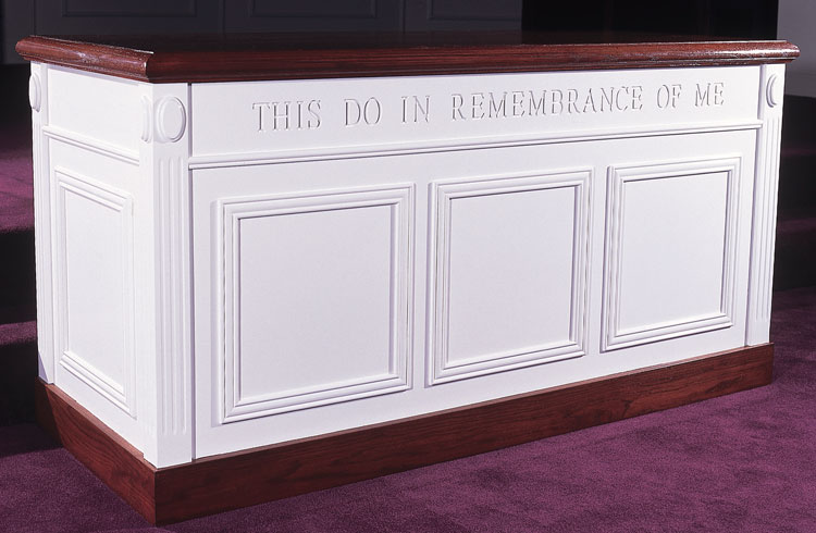 Imperial Woodworks Colonial Closed Communion Table