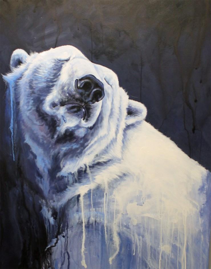 Greta. Acrylic enamel Painting by Kal Barteski.